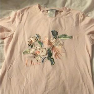 Dior pink embroidered shirt nwot